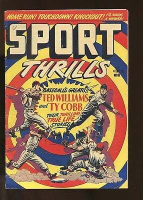 Sport Thrills #11 Very Good 4.0 Ted Williams And Ty Cobb 1950