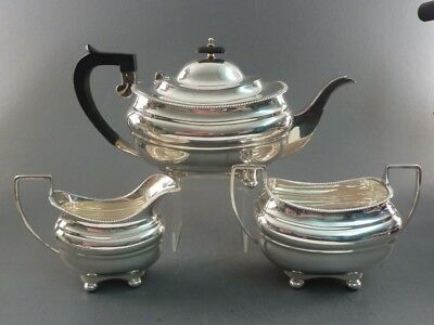 Good Solid Silver Georgian Style Tea Set Sheffield 1939
