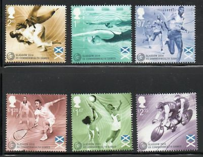 Great Britain Sc 3305-10 2014 Commonwealth Games stamp set mint NH Free Shipping