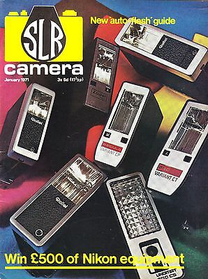 SLR Camera  magazine with  Nikkor 40mm F4 for Bronica review    January  1971