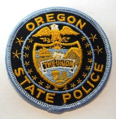 """Oregon State Police 3"""" Patch Unused"""