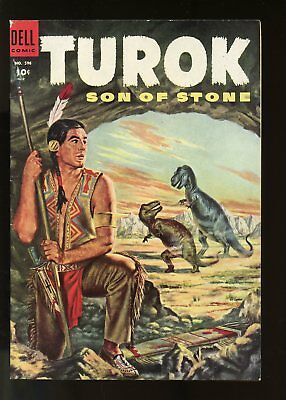 Four Color #596 Fine- 5.5 (Fn-) 1954 1St Turok Son Of Stone Dell