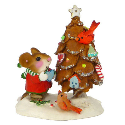 Wee Forest Folk THE LITTLEST PINE CONE TREE, WFF# TM-6, Christmas Mouse