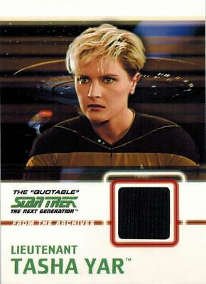 Star Trek TOS The Next Generation: Costume Material Card of Lieutenant Tasha Yar