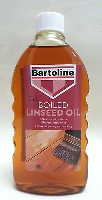 500ml Boiled LINSEED OIL Protects Wooden Furniture Shine Treatment BARTOLINE