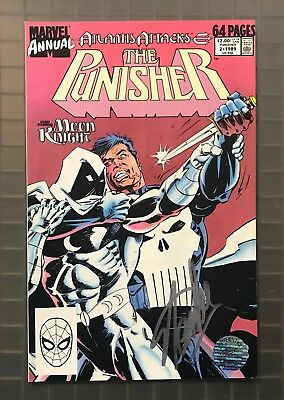 Stan Lee Signed THE PUNISHER Moon Knight #2 Marvel AUTO 1989 EXCELSIOR Hologram