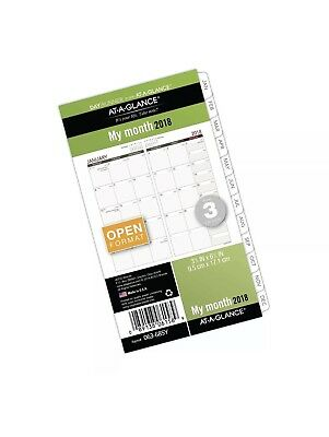 """AT-A-GLANCE Monthly Planner Refill Jan-Dec 2018 3-3/4"""" x 6-3/4"""" - 063-685Y"""