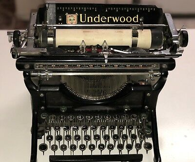 1930's Underwood Typewriter—Restored And In Great Condition!