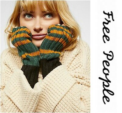 Free People  Uptown Ribbed Armwarmer Fingerless Gloves Mittens One Size   Nwt