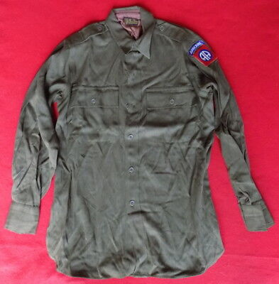 ORIGINAL WWII US ARMY 82nd AIRBORNE OFFICERS SHIRT
