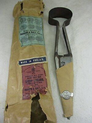 Vintage Burgon & Ball Steel Solid Neck Sheep Shears Wool Clippers #294 England