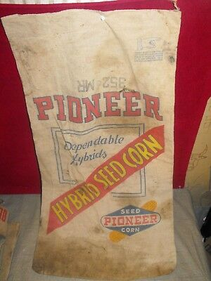 Vintage Pioneer Seed Corn Sack Bag   Farm
