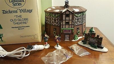 Dept 56 Dickens Village 1997 Historical Landmark Series THE OLD GLOBE THEATRE