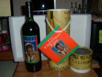 "Celebrity Cellars Nat ""King"" Cole Red Un-wine with CD Single UNOPENED"