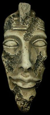 Ancient Egyptian Mask of Pharaoh Akhenaten 3D Wall Plaque  Antique Reproduction