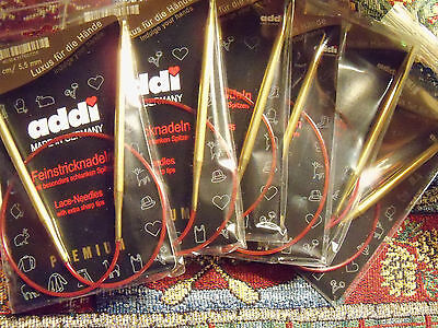 """New in Package Addi LACE Premium Knitting Circular Needles 16"""" 24"""" 32"""""""