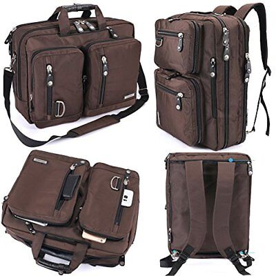 FreeBiz Water Resistant Laptop Bag Convertible Backpack Business Briefcase Bag