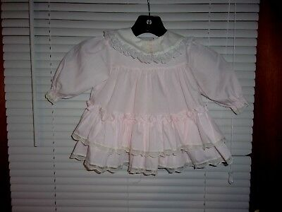 Vintage Baby Dress~Frilly~Ruffles~Lace~Bryan Sz 6-9 Mos.
