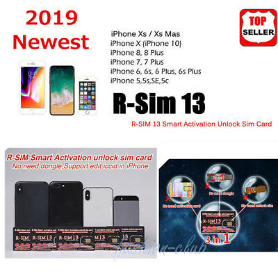 RSIM 12+ 2019 R-SIM SUP Nano Unlock Card fits iPhone XS/8/7