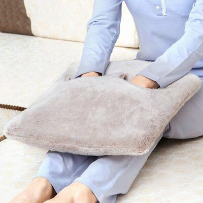 US Electric Heated Warm Cosy Foot & Hand Warmer Heating Slippers Sofa Pillow