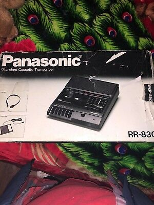 Panasonic RR-830 Standard Cassette Tape Recorder Transcriber with Box