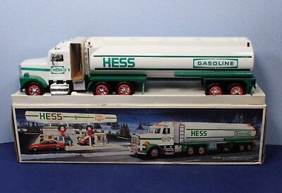 1990 Hess Gas Toy Tanker Truck & Cab with Horn & Back-Up Alert NIB