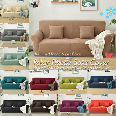 2019 NEW Winter Thicken Spandex Polar Fleece Sofa Cover Elastic Stretch Couch