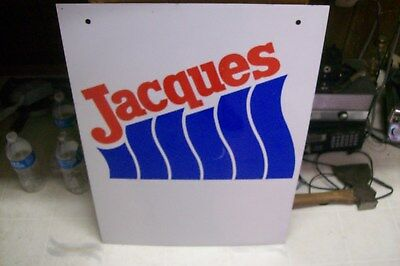 "Vintage Jacques Seeds Dealer Metal Farm Sign  24""x18"""