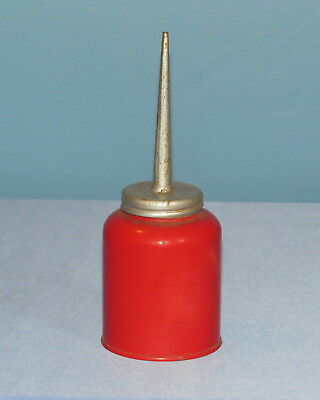 """Eagle red oil can 8"""" tall, Made in USA"""