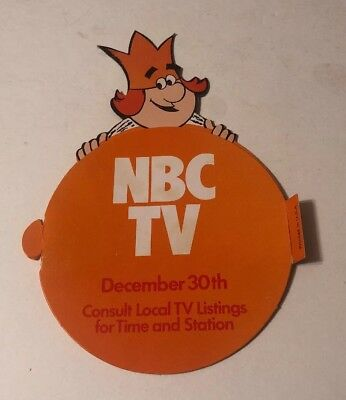 Vintage Burger King NBC TV Orange Bowl Parade Cardboard Foldout Advertising Card