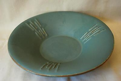 Rare McCoy Vesta Arts & Crafts Mission or Deco Green Matte Footed Console Bowl