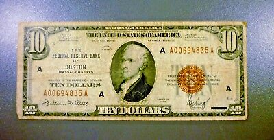 Series 1929 $10 FRB Of New York National Currency Brown Seal