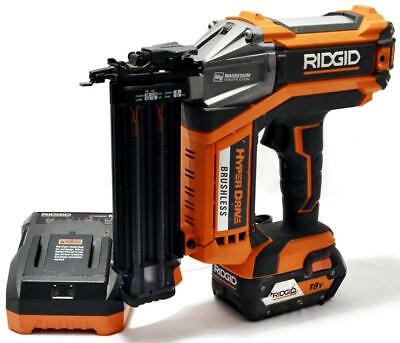 "Ridgid R09890 Hyperdrive Brushless Cordless 2-1/8"" 18V 18-Gauge Brad Nailer"