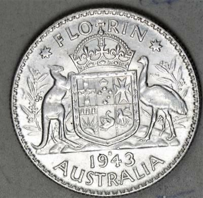 Australia 1943-S Florin Sterling Silver Coin