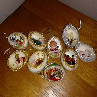 Lot of Vintage Hand Made Christmas Ornaments