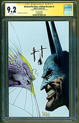 Batman The Maxx Arkham Dreams #1 Virgin Variant Sketch Signed Sam Kieth CGC 9.2