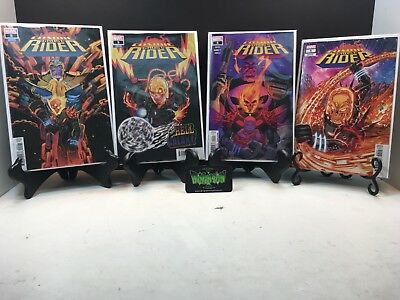 Set of 4X Cosmic Ghost Rider 5 Shaw Main Cover & Variant Set Marvel 2018 NM
