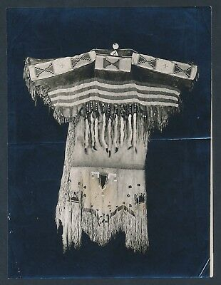1910 BLACKFOOT INDIANS BEADED DRESS Native American Art Vintage Photo