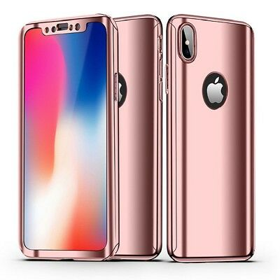 360 Mirror Full Protective Case+Tempered Glass Cover for iPhone 6s 7 8 XS MAX XR