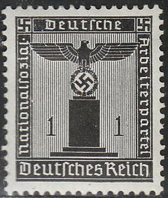 Stamp Germany Official Mi 144 Sc S1 1938 WWII Dienst War Party Franchise MH