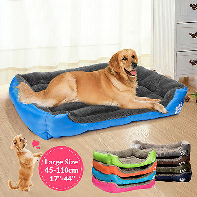 Large Dog Cat Pet Bed Kennel Puppy Cushion Mat Soft Warm Waterproof Pet House No