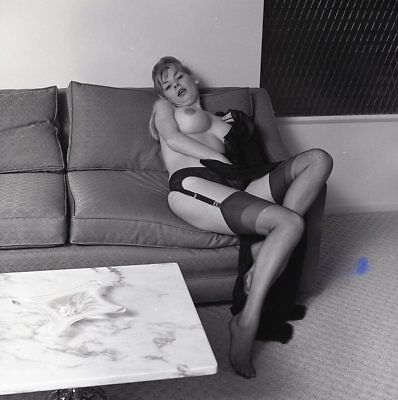 1960s Ron Vogel Negative, busty nude blonde pin-up girl Kim Kimberly, t216670