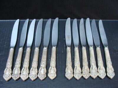 Reed & Barton Tiger Lily, Festivity Silver Plate Dinner Knife Flatware x12