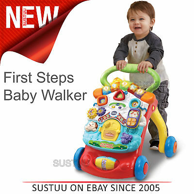 VTech First Steps Baby Walker│Motion Sensor│Music & Lights│Easy Grip Handle│6m+
