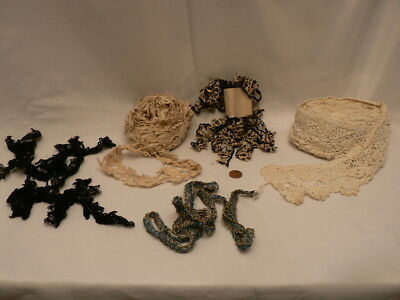 Antique Vintage Huge Lot of Lace Crochet Trim Remnants Estate Liquidation