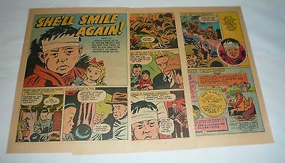 1943 four page cartoon story ~ PATSY LEE Guadalcanal ~ She'll Smile Again