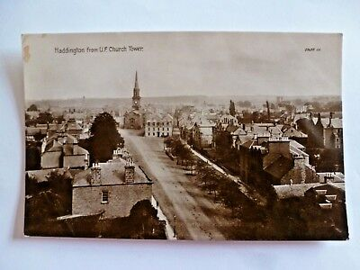 Vintage Postcard Haddington From U.f. Church Tower Real Photograph  (F)