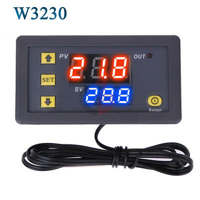 Digital Thermostat Temperature Alarm Controller Thermometer Temp Regulator