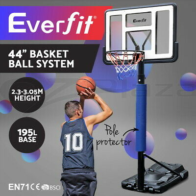 3.05M Everfit Portable Basketball Stand System Hoop Height Adjustable Net Ring L