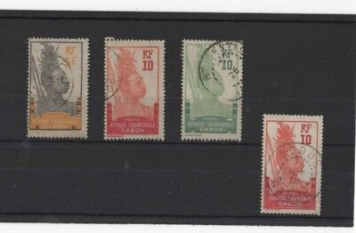 Gabon , 1910, 4 Used ( Please See Descr. )......cat Val £8.00+